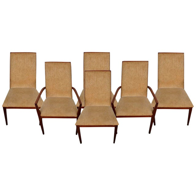 Dillingham Mid-Century Walnut Dining Chairs - Set of 6 - Image 1 of 9