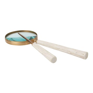 Chiseled Bone Magnifying Glass & Letter Opener