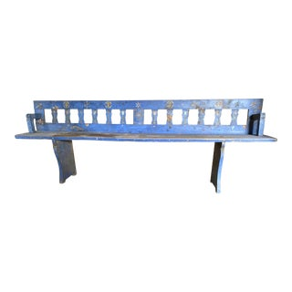Antique Painted Bench With Adjustable Back For Sale