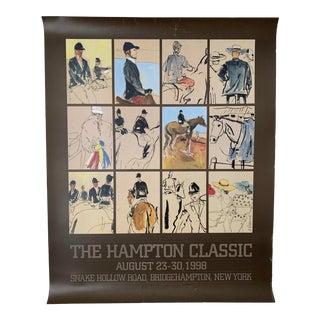Vintage Hampton Classic Horse Show Poster For Sale
