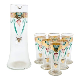 Early 20th C. Victorian Lemonade/Juice Glasses - Set of 7 For Sale