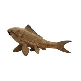Brass Koi Fish Statue For Sale