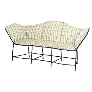 Outdoor French Provinicial Iron Loveseat For Sale