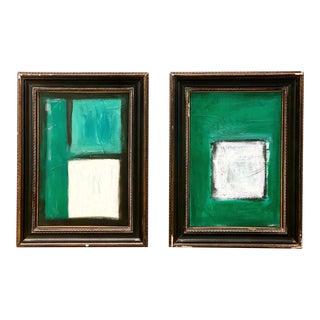 Original Modernist Artworks by Mr Reitter - a Pair For Sale