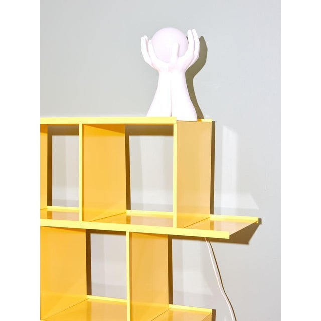 Michael Felix Yellow Powder-Coated Metal Shelves For Sale In New York - Image 6 of 10