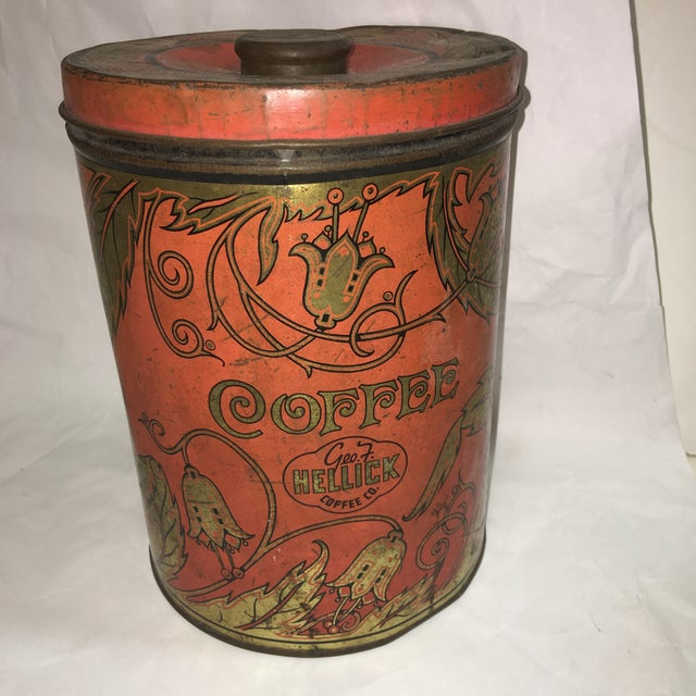 1950's Geo F. Hellick Coffee Tin Canister - Image 2 of 8