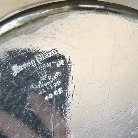 Large 1927 Silver Plated Serving Bowl From Savoy Plaza Hotel NYC For Sale In New York - Image 6 of 10