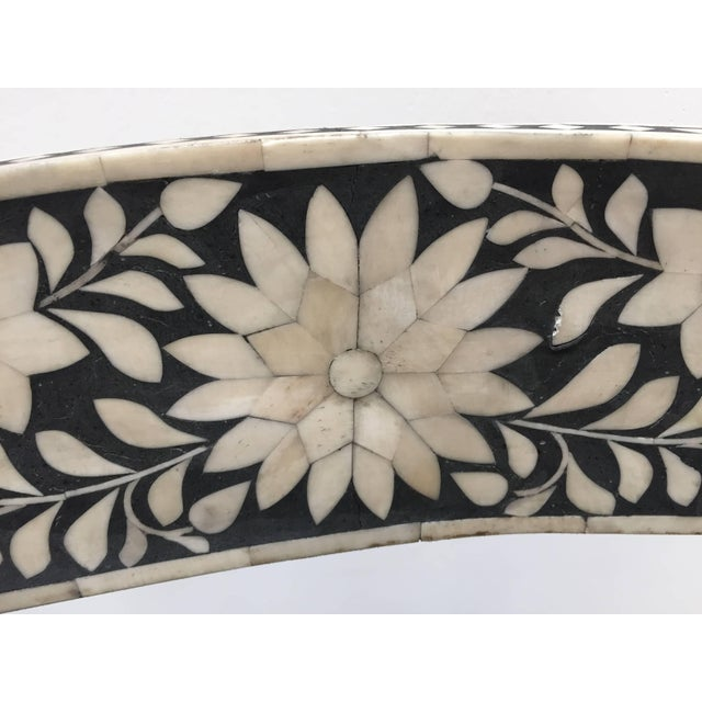 White Pair of Anglo-Indian Bone Inlaid Side Chairs With Ram's Head For Sale - Image 8 of 11