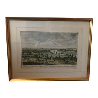 18th Century Hand Colored Copper Engraved Print, 1794 For Sale
