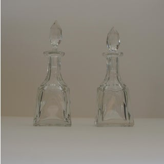 Mid-Century Modern Cut Crystal Bottles - A Pair Preview