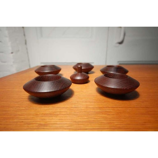 Jens Harald Quistgaard Wenge Salt Chambers From Denmark For Sale - Image 4 of 7