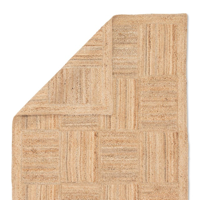Jaipur Living Aaron Natural Geometric Tan Area Rug - 8' X 10' For Sale - Image 4 of 6