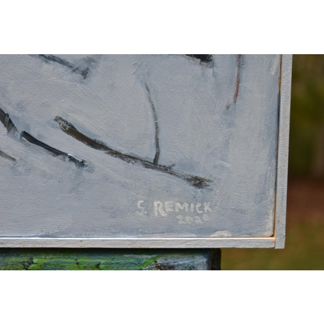 """Paint """"Miles From Nowhere"""" Contemporary Acrylic Painting by Stephen Remick, Framed For Sale - Image 7 of 12"""