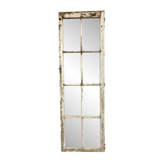 Salvaged Window Framed Mirror For Sale