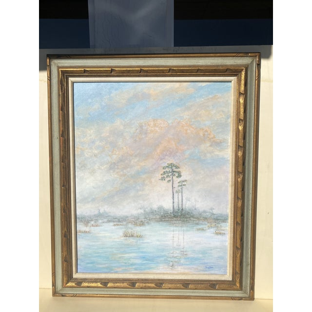 Florida Everglades Acrilic Painting in Pastels Tones. For Sale - Image 13 of 13