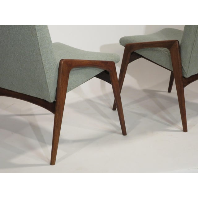 Midcentury Modern Walnut Dining Chairs - Set of 4 - Image 10 of 10