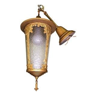Antique Art Nouveau Lantern