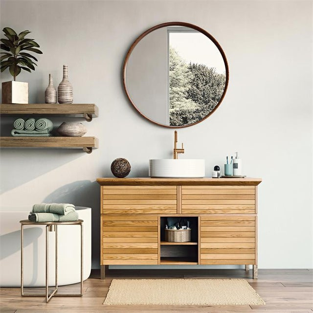 The deep, shadow box styled frame of our Reagan Mirror is styled to let the beautiful characteristics of the Wau Beech...