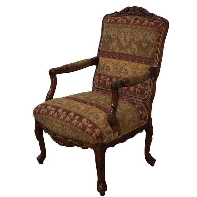 Hancock & Moore Louis XV Style Fauteuil Armchair - Image 1 of 10