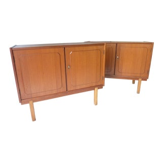 Danish Style Modern Nightstands- A Pair For Sale