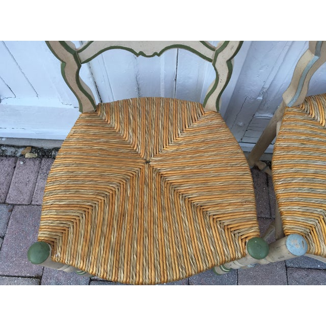 Country French Ladderback Chairs - A Pair For Sale - Image 3 of 8
