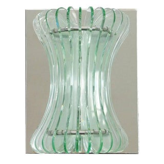 1960s Vintage Italian Beveled Glass Sconces by Cristal Arte - a Pair Preview