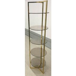Mid Century Brass 5 Shelf Etager- Vertical Shelving Preview