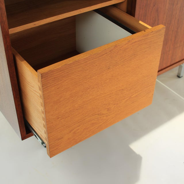 Brown 1960s Florence Knoll Walnut Credenza Sideboard For Sale - Image 8 of 13