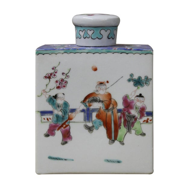 Chinese Colorful Porcelain Tea Jar - Image 1 of 6