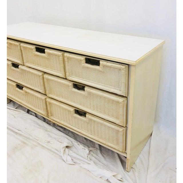 Metal Vintage Hollywood Regency Style Dresser For Sale - Image 7 of 10