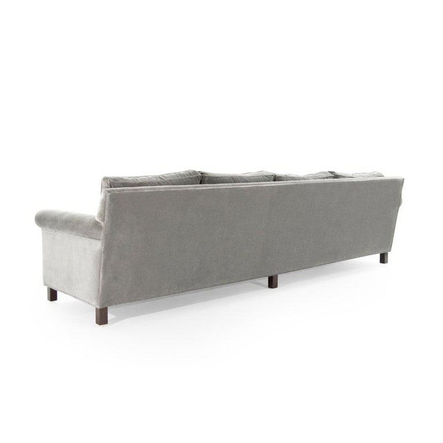 Dunbar Furniture Edward Wormley for Dunbar Model 580 Velvet Sofa For Sale - Image 4 of 11