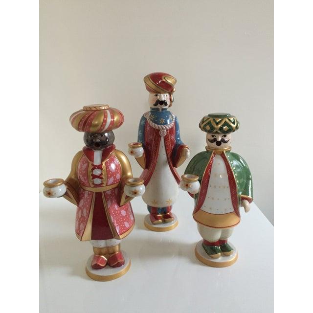 Villeroy & Boch Porcelain Melchior, Balthasar and Caspar Candle and Incense  Holders - Set of 3
