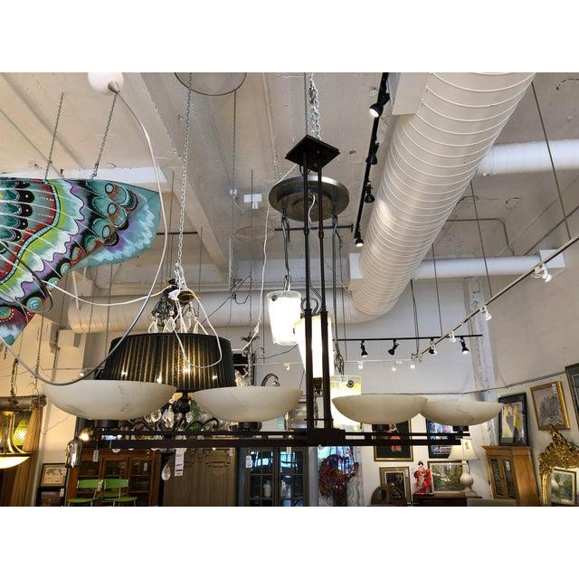 Rustic Hubbardton Forge Trestle 4-Light Pendant Chandelier For Sale - Image 3 of 12