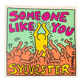1986 Keith Haring Vinyl Record Art For Sale