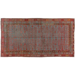 Early 20th Century Antique Khotan Runner Rug - 6′7″ × 11′11″ For Sale