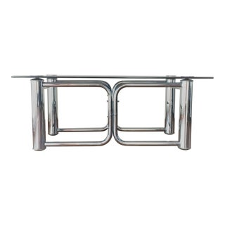Mid-Century Modern Chrome Coffee Table For Sale