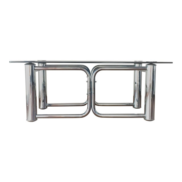 Mid-Century Modern Chrome Coffee Table - Image 1 of 11