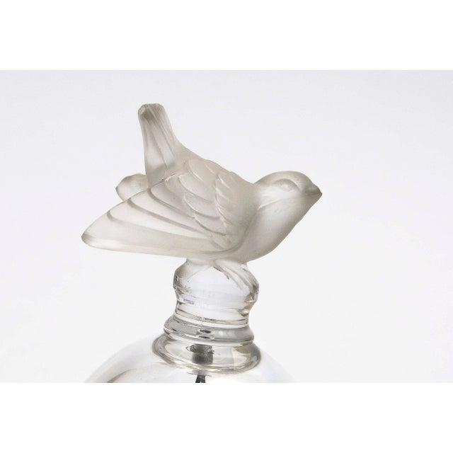 Traditional Lalique Crystal Bell With Sparrow For Sale - Image 3 of 4