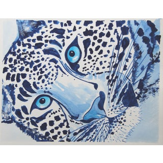 Leopard Portrait by Cleo Plowden For Sale