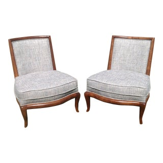 Modern Mid Century Style Slipper Chairs - a Pair