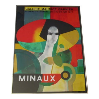 1977 Expressionist Lithograph, Galerie Maurice Ganier For Sale