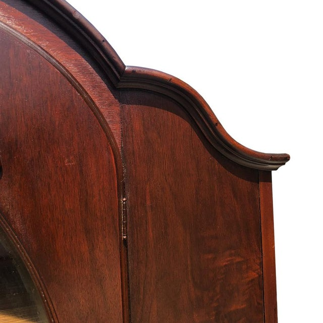 Exceptional Antique Victorian Carved Mahogany China Curio Bookcase Cabinet For Sale - Image 6 of 11