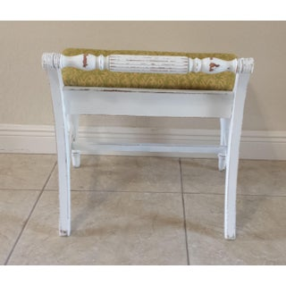 Vintage Mid Century Shabby Chic Bench Preview