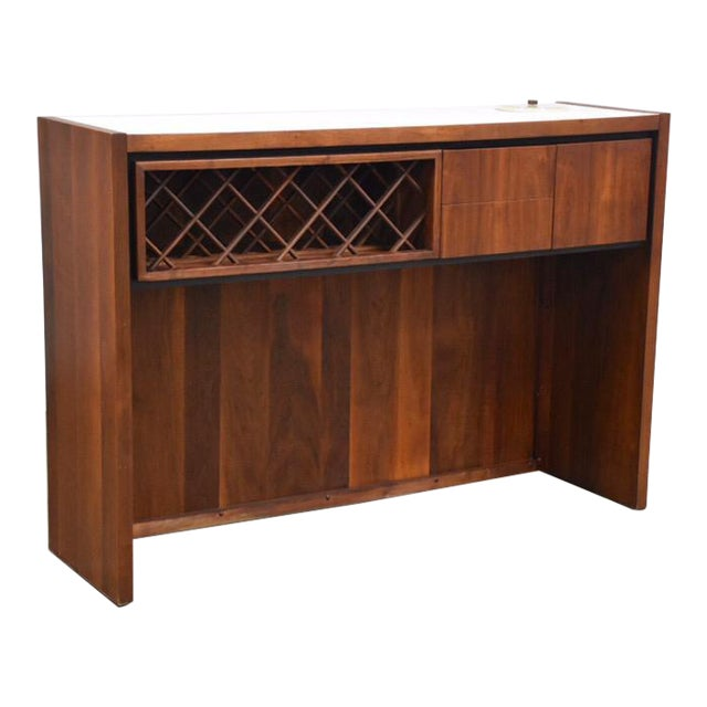 Dillingham Walnut Mid Century Bar For Sale