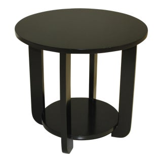 1940s Art Deco Ebonized Side / Coffee Table For Sale