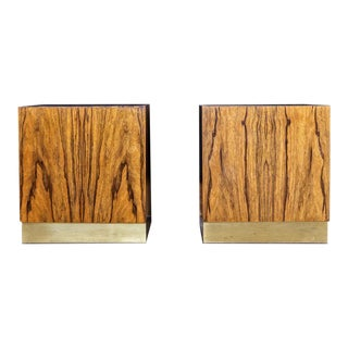 1970s Milo Baughman Rosewood Nightstands for Thayer Coggin - a Pair For Sale