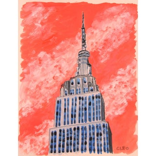 Empire State Building Cityscape New York by Cleo For Sale