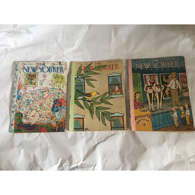 1956, 1963 & 1970 New Yorker Magazines With Steig Covers - Set of 3 - Image 2 of 11