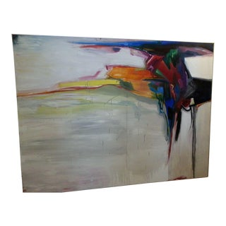 """The Crevice"" Contemporary Abstract Oil on Canvas Painting For Sale"