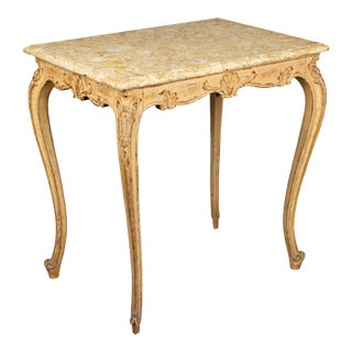 French Louis XV Style Marble Top Table For Sale